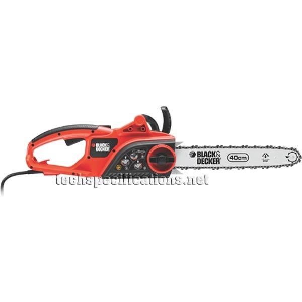 Black Amp Decker Gk2240t Electric Chainsaw Tech Specs