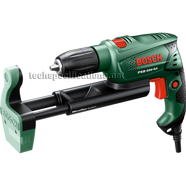 bosch psb 500 re drill and screwdriver tech specs. Black Bedroom Furniture Sets. Home Design Ideas