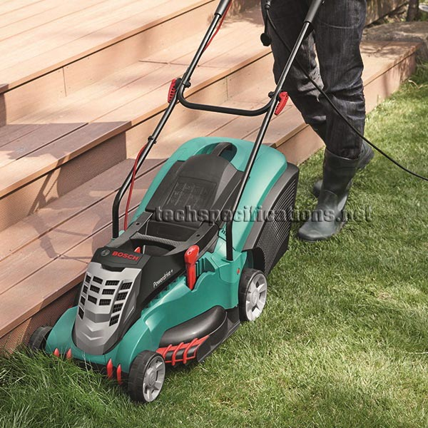 bosch rotak 43 electric lawnmower tech specs. Black Bedroom Furniture Sets. Home Design Ideas