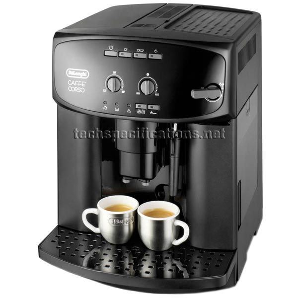 delonghi caffe corso esam2600 espresso machine specs. Black Bedroom Furniture Sets. Home Design Ideas