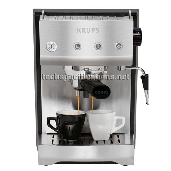 Krups XP5280 Manual Espresso Machine Tech Specs