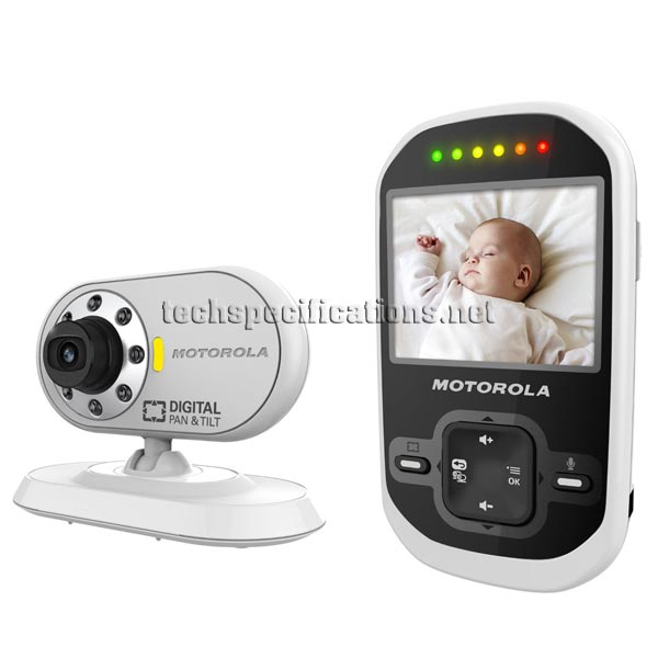 motorola mbp26 digital video baby monitor tech specs. Black Bedroom Furniture Sets. Home Design Ideas