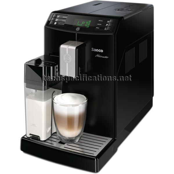 saeco minuto hd8763 automatic espresso machine specs. Black Bedroom Furniture Sets. Home Design Ideas