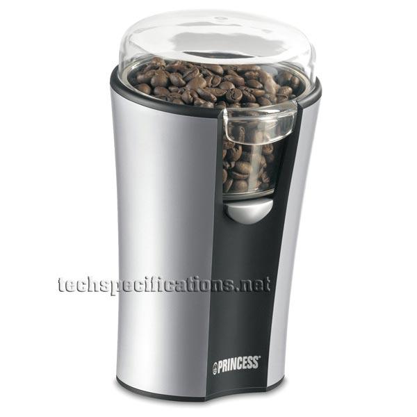 Handleiding Princess Coffee Maker And Grinder : Princess 242194 Coffee Grinder Tech Specs