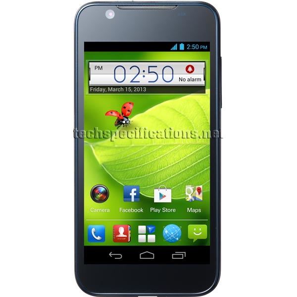 zte blade cell phone blue tones