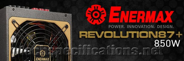 Enermax Revolution 87+ PC Power Supply Tech Specs