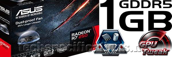 Asus AMD Radeon R7 250 Graphics Card Tech Specs