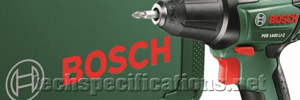bosch psr 1440 li 2 drill and screwdriver tech specs. Black Bedroom Furniture Sets. Home Design Ideas